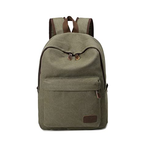 4374e6cca069 MiCoolker Multifunctional Satchel Bag for Students Vintage Canvas Backpack  for Teenagers Classic Shoulders Bag for Travel
