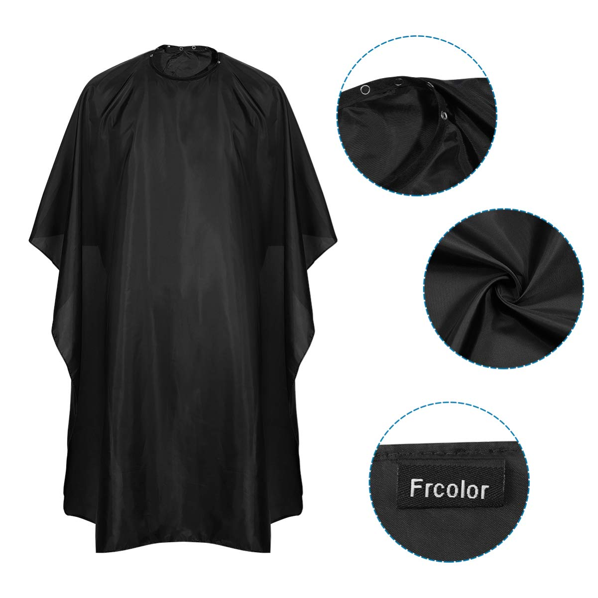 Salon Barber Cape with Snap Closure, 2 Pack Professional Hair Cutting Cape with Neck Duster Brush and Black Hair Comb