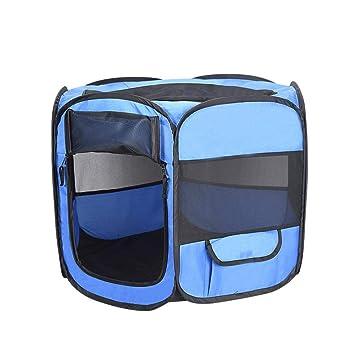 Easy-topbuy Parque Portátil para Perros Gatos Perrera Plegable Ejercicio Tela Impermeable de Tela Oxford con Malla Transpirable de 6 Lados: Amazon.es: ...