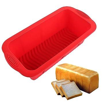 sfghouse rectangular silicona Cake Pan Mold - Molde antiadherente para hornear moldes latas 25,5 x 13 x 7 cm: Amazon.es: Hogar