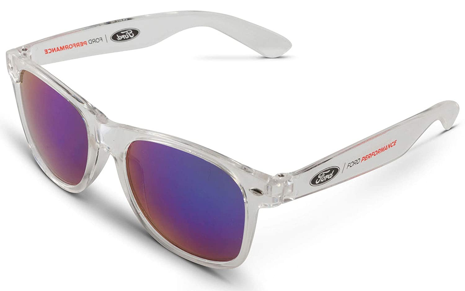 Gregs Automotive Ford Performance Mirrored Sunglasses Bundle with Driving Style Decal