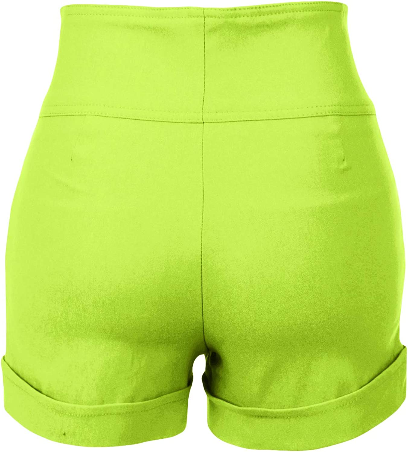 RK RUBY KARAT Womens High Waisted Front Button Retro Vintage Pin Up Sailor Shorts with Pockets