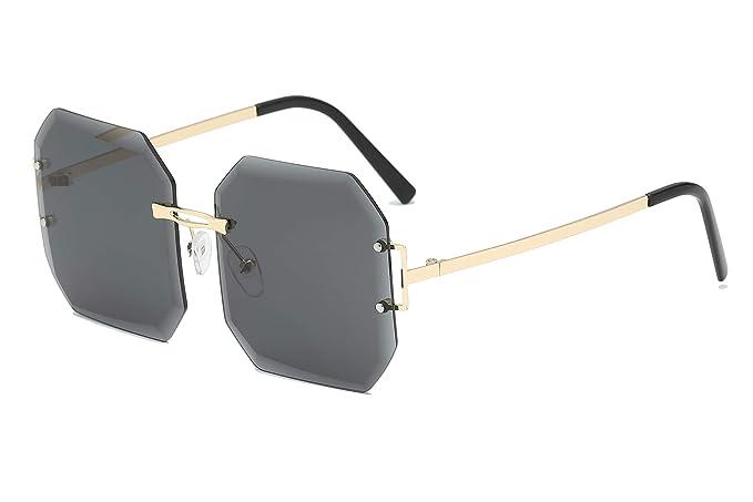 Amazon.com: FEISEDY B2449 - Gafas de sol cuadradas sin borde ...