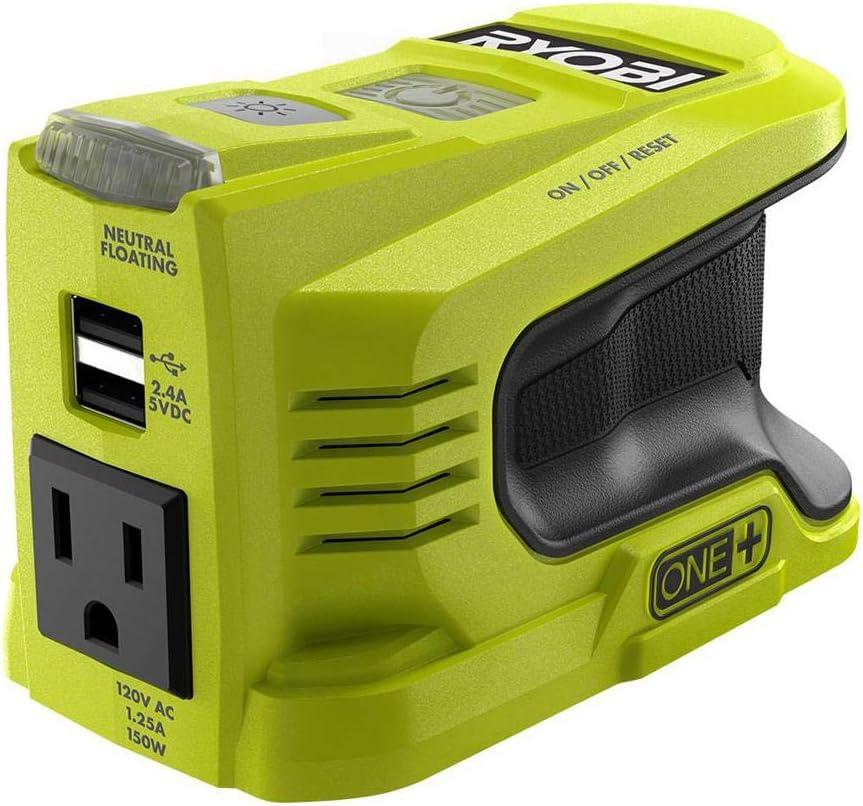 Ryobi 150-Watt Powered Inverter Generator for 18-Volt Battery