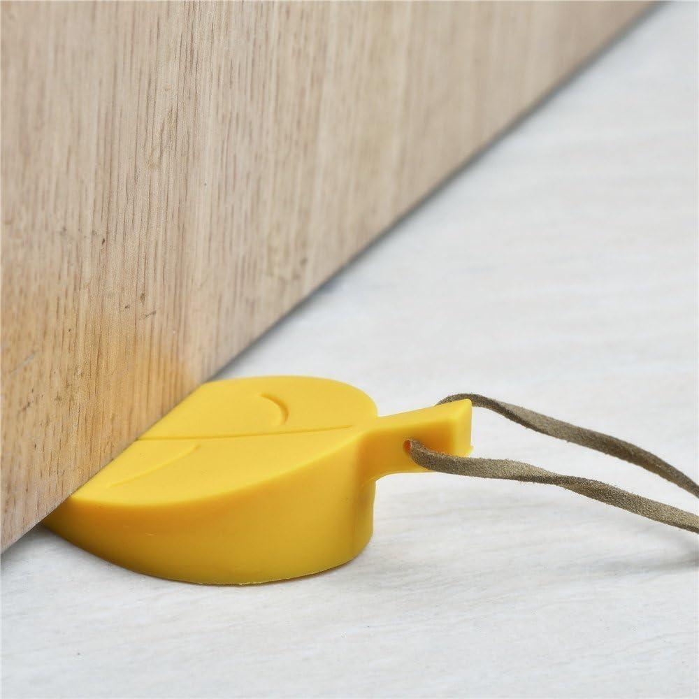 Xrten Silicone Porta Foglia Fermaporte Porta di Sicurezza Proteggono le Dita 4 Pcs Foglia Silicone Porta Fermaporte