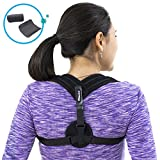 Posture Corrector | Upper Back Support & Pain Relief | Comfortable & Adjustable w/Detachable Pads | Medical Brace to Improve Bad Posture, Shoulder Alignment & Thoracic Kyphosis | Prevents Hump | for