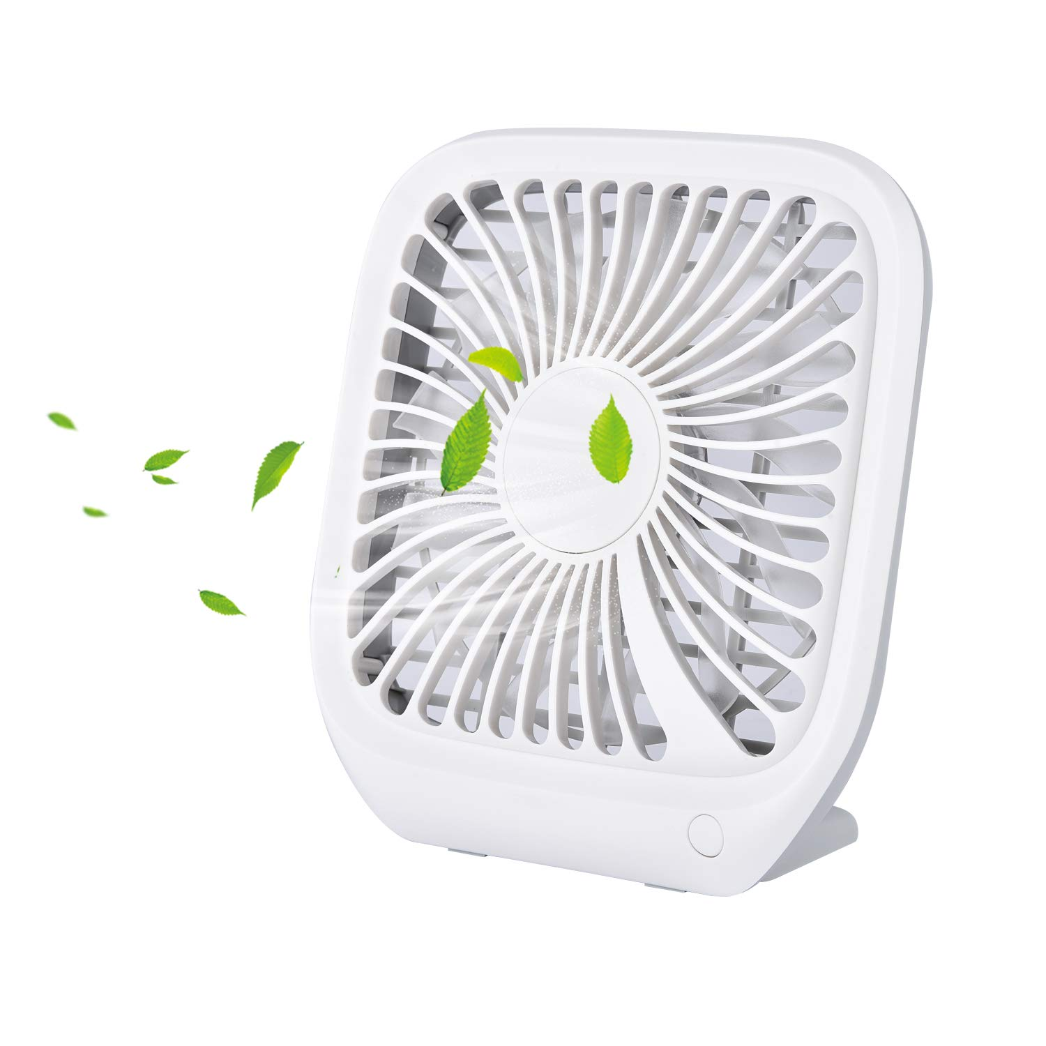 Slotal Small Personal USB Desk Fan, 3 Speeds Ultra-Thin Portable Desktop Table Cooling Fan Powered by USB, Strong Wind, Quiet Operation, for Home Office by slotal