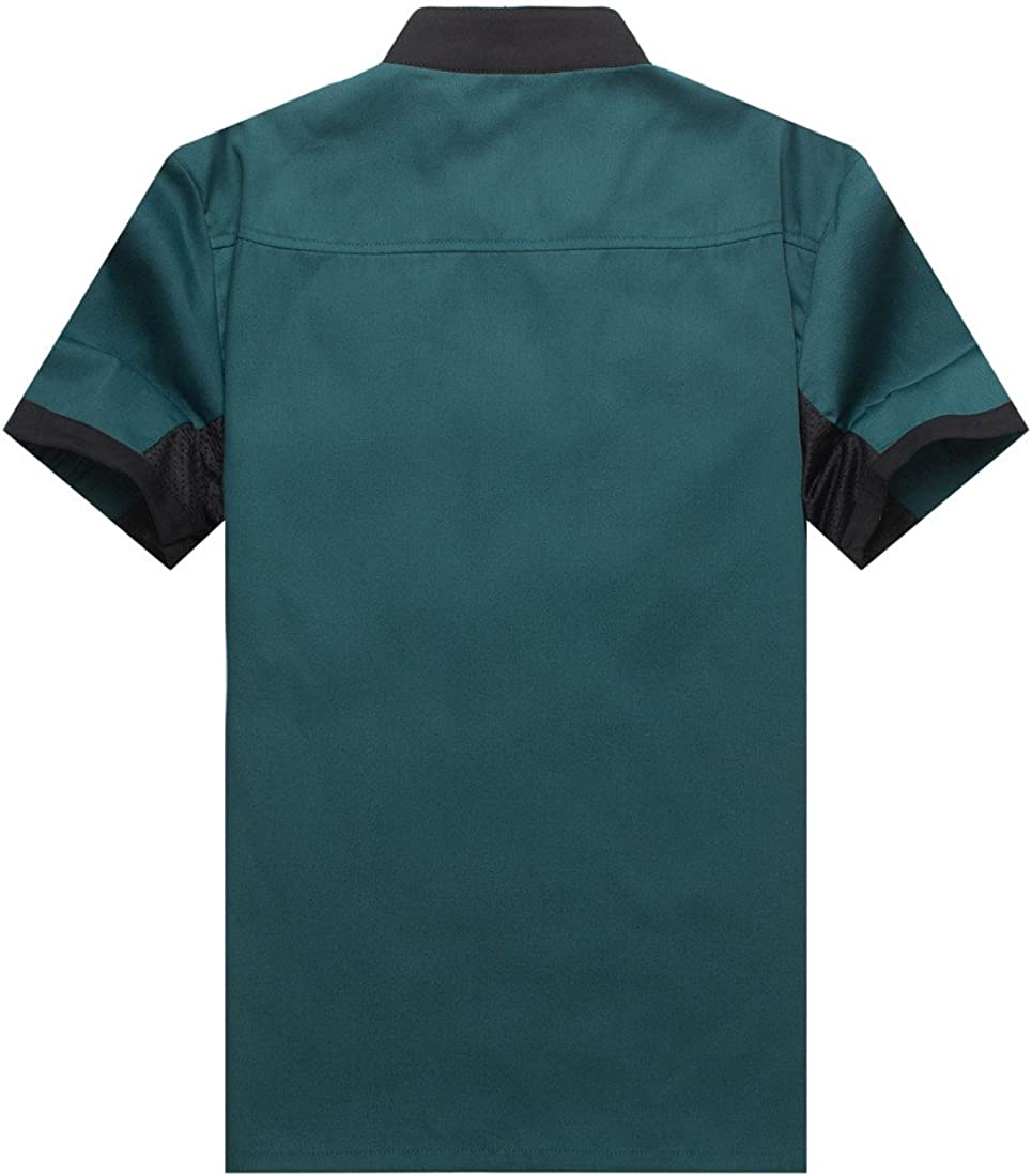 WAIWAIZUI Chef Jackets Waiter Coat Short Sleeves Underarm Mesh Many Colors