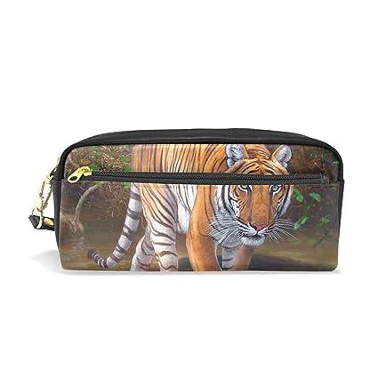 Eslifey Tiger - Estuche portátil de piel sintética para ...
