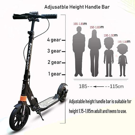 Patinetes clásicos Scooter Plegable para Adultos con ...