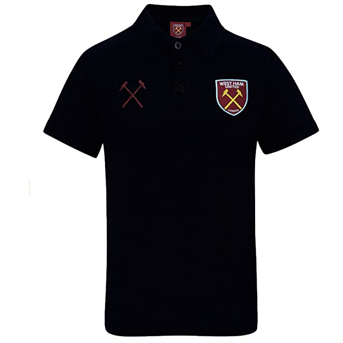 best sneakers 99197 2d7f4 West Ham United Football Club Official Soccer Gift Mens Crest Polo Shirt