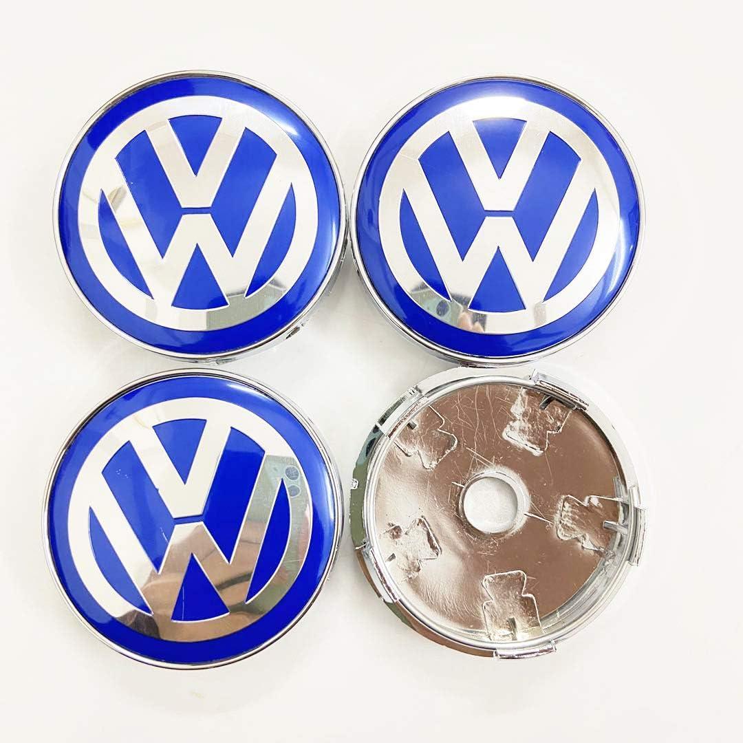 OZ6YA 4Ps Suitable for refitting Vo-lk-sw-ag-en wheel cap 60mm wheel center mark VW dust cover car label blue label black label black