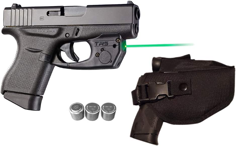 Amazon Com Laser Kit For Glock 42 43 43x 48 Pistols W Tactical Holster Touch Activated Armalaser Tr5 G Green Laser Sight 2 Extra Batteries Sports Outdoors
