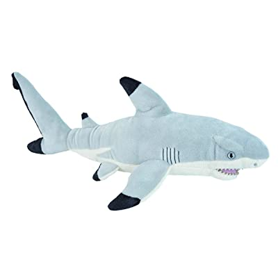 Wild Republic Black Tipped Shark Plush, Stuffed Animal, Plush Toy Gifts for Kids, Cuddlekins 20 Inches: Toys & Games