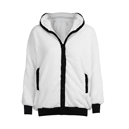 Amazon.com: Besde Womens Cute Bear Ear Panda Hoodie Coat Plush Soft and Comfortable Zipper Jacket Outerwear: Garden & Outdoor