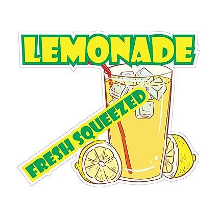 image relating to Lemonade Sign Printable referred to as : Die-Slice Sticker Several Measurements Lemonade Refreshing