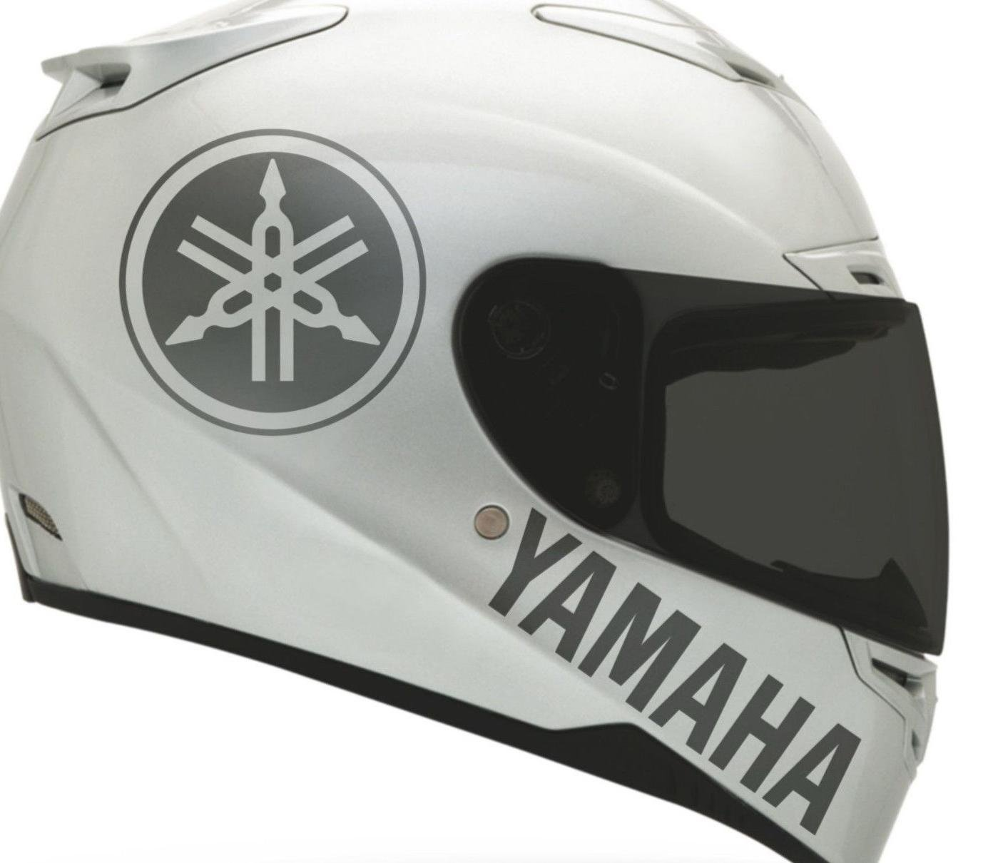 Amazon com 2 x yamaha sticker for helmet decal motorcycle decal sticker buy 2 set get 3rd free automotive