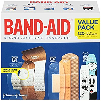Band-Aid Brand Adhesive Bandages Variety Pack, 120 Count from Johnson & Johnson SLC