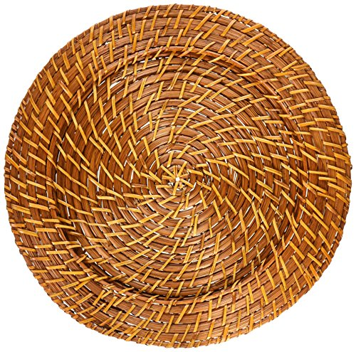 ChargeIt! By Jay Harvest Round Rattan Charger Plate (Rattan Plate)