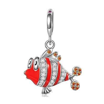 NINAQUEEN - Happy Fish - 925 Sterling Silver Charms Nickel-free pKIIgjA2