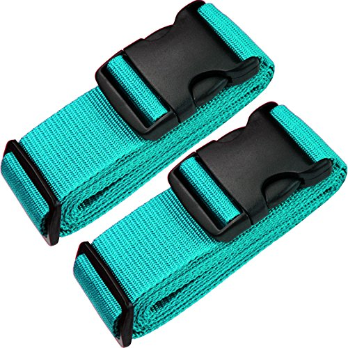 TRANVERS Luggage Straps For Suitcases Baggage Belt Heavy Duty Adjustable 2-Pack Lake...