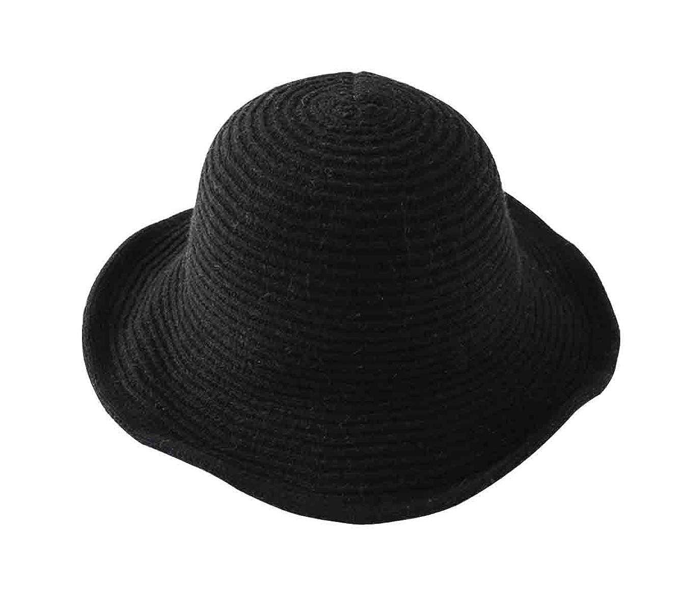 ZHMIAO Otoño Invierno Dama Sombrero De Punto Sombrero De Pescador ... b0ab94c9d4e