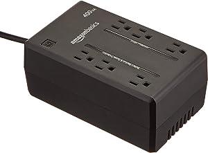 AmazonBasics Standby UPS 400VA 255W, 6 Outlets (Renewed)