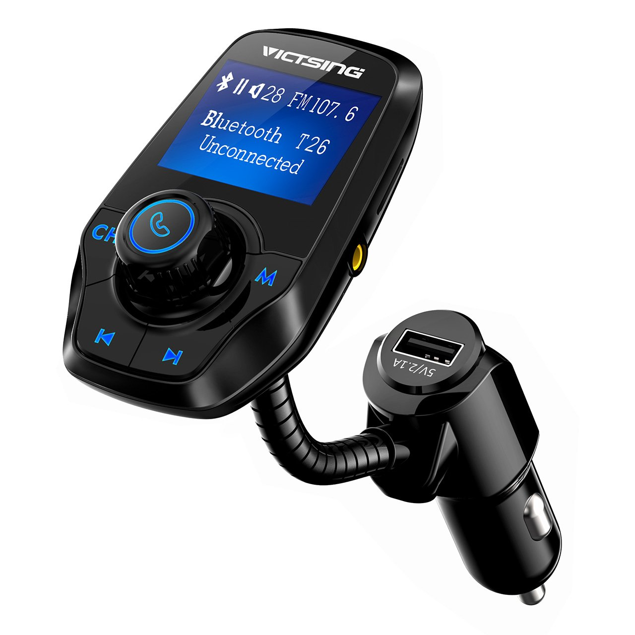 Best Rated In Mp3 Player Bluetooth Fm Transmitters Helpful This Transmitter Tx Is About The Simplest And Most Basic Victsing Upgraded For Car Power Off Switch Music Support Usb