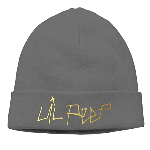b13760b03a9 Amazon.com  CarterH Lil Peep Logo Cuffed Plain Skull Knit Hat Cap Snowboard  Hat Unisex Black  Sports   Outdoors