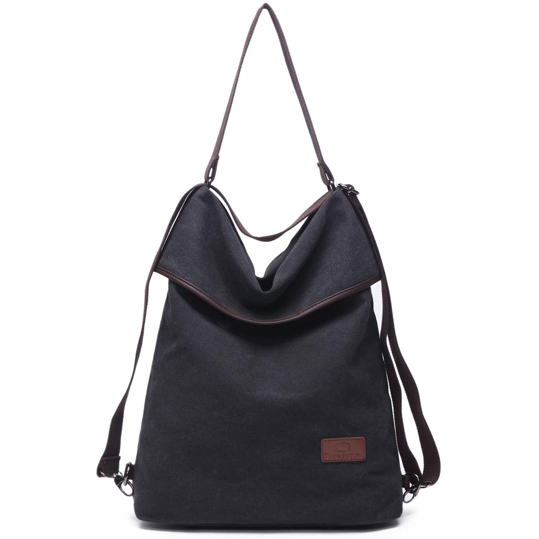 Travistar Women Multifunction Shoulder Bag Canvas Crossbody Casual Daypack Handbag for work and daily use
