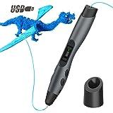 Penna 3D, QPAU Intelligente 3D Penna con Schermo LCD Compatibile con Filamento PLA / ABS