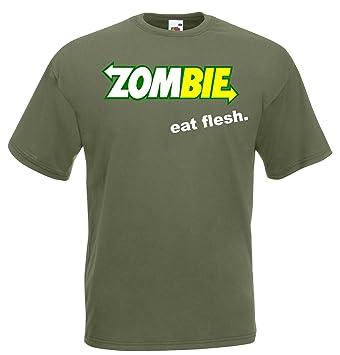 Zombie Eat Flesh Kult - Camiseta de S - XXL): Amazon.es: Deportes y aire libre