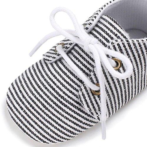 BZLine® Mädchen Jungen weiche alleinige Krippe Kleinkind Soft Sole Schuhe Schwarz