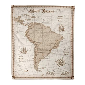 Amazon.com: Emvency Flannel Throw Blanket Old South America ...