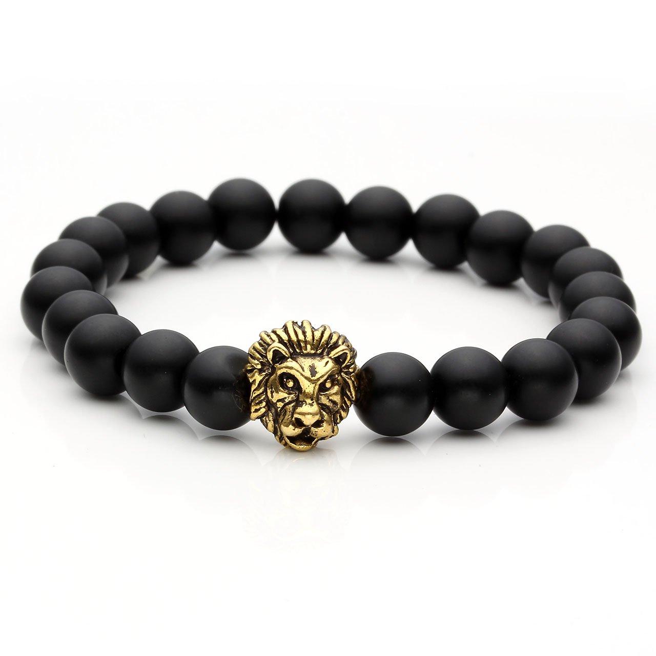 Beaded Charm Bracelets: Amazon.com: Creazy®Women Men Bracelet Lion Elastic Beaded