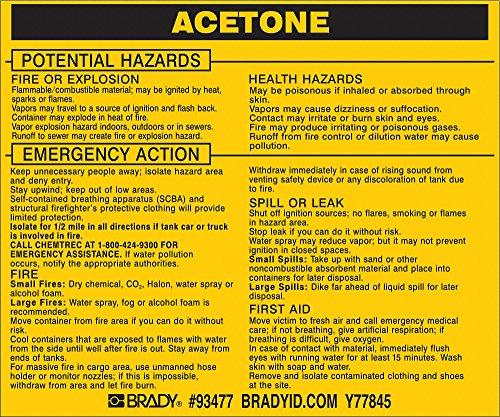 Brady 93477,  Hazardous Material Label:Dot 5800.4-1987, 3 3/4