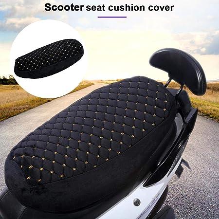 sedile per scooter elettrico Coprisella Protezione per sedile Protezione antipolvere UV Coprisedile per moto Peluche caldo morbido per linverno