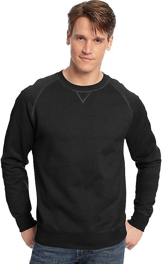 Hanes Mens Nano Premium Lightweight Fleece Sweatshirt