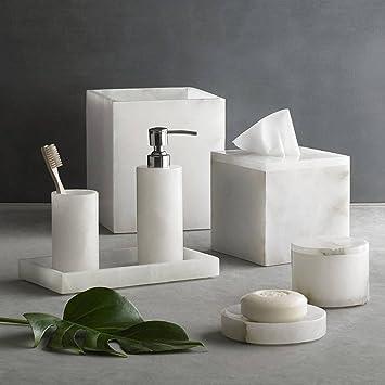 kassatex alabaster 7 piece complete bath set
