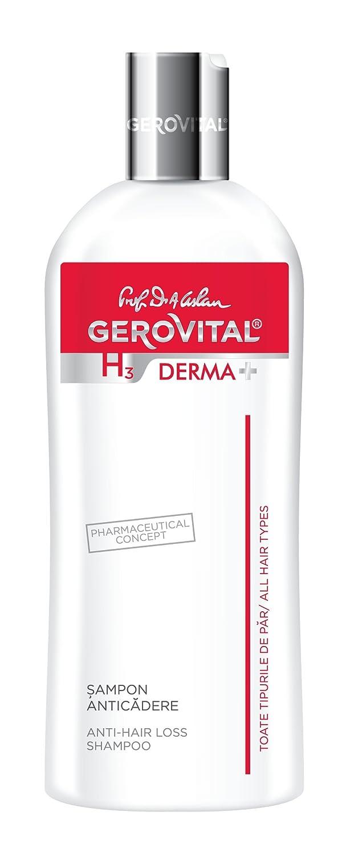Champú anticaída Gerovital H3 Derma+ hipoalergénico, sin jabón, colorantes o SLS: Amazon.es: Belleza