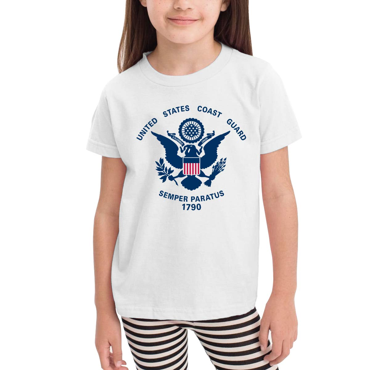 United States Coast Guard 100/% Cotton Toddler Baby Boys Girls Kids Short Sleeve T Shirt Top Tee Clothes 2-6 T