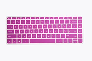 "Leze - Ultra Thin Keyboard Cover for 13.3"" HP Pavilion x360 13-s020nr s099nr s067nr s192nr s199nr,M3-u001dx u003dx u105dx u101dx u103dx Series Laptop - Semi Purple"