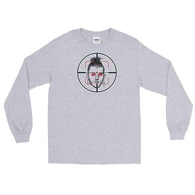 5abe2dda6985a Amazon.com: Eminem Killshot Scope Long Sleeve Shirt Kamikaze Grey ...
