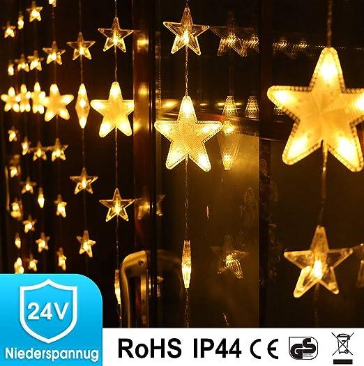 Lichtervorhang Weihnachten Led Fur Innen Fenster Sterne