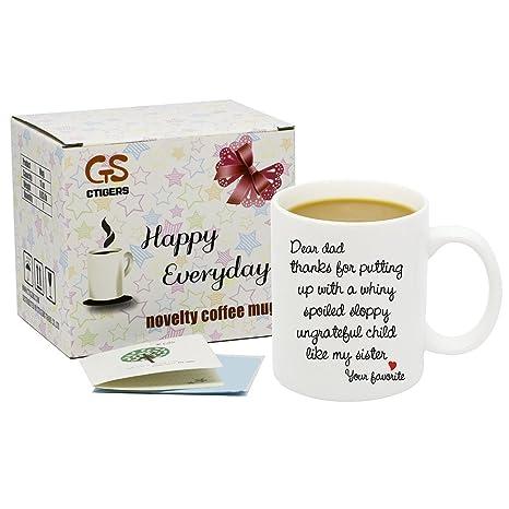 Amazon.com: ctigers – Novedad Dear Mamá Carta taza 11oz ...