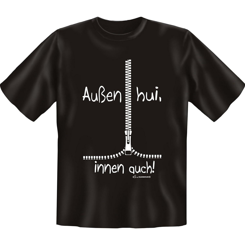 Witziges Fun-shirt - Tshirt als Geschenk mit Minishirt - Schwarz - Aussen  Hui Innen Pfui: Amazon.de: Bekleidung