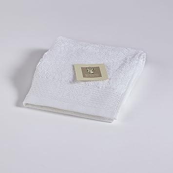 Burrito Blanco Toalla de Cara/Toalla Bidet/Toalla Invitados/Toalla Tocador Lisa de Rizo Algodón 100% de 30x50 cm, Color Blanco: Amazon.es: Hogar