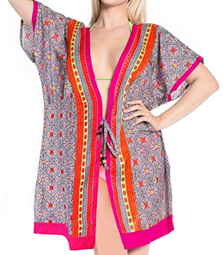 La Leela Smooth Cotton Cardigan Swimwear Beach Wear Plus Coverup Dress Pink Valentines Day Gifts 2017