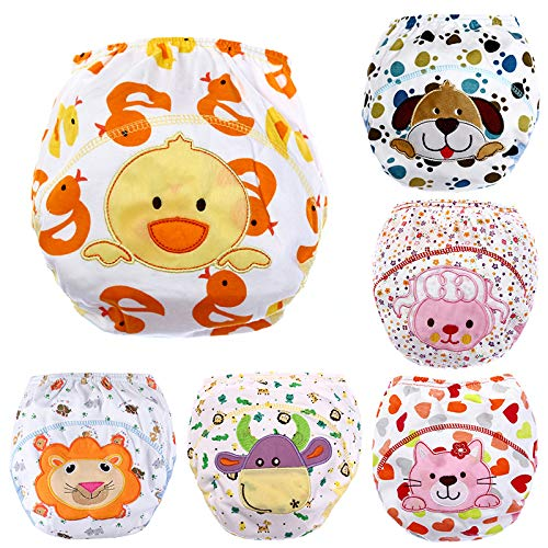 6 Pack Baby Girl Boy Toliet Pee Potty Training Pants Diaper Nappy Underwear L Dog Diaper Training Panties