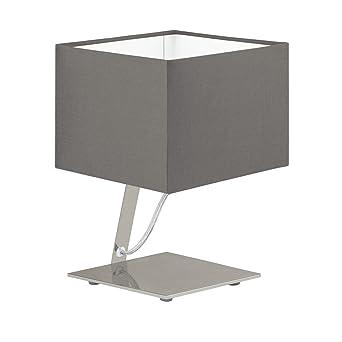 Bauhaus – Lámpara LED de mesa (pantalla rectangular, 480 lúmenes, interruptor de ahorro
